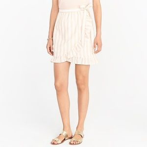 NWT J.Crew Factory Striped Wrap Skirt